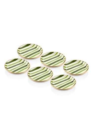 The Mia Fez Sosluk 6 Parça - 10 cm Yeşil Yeşil